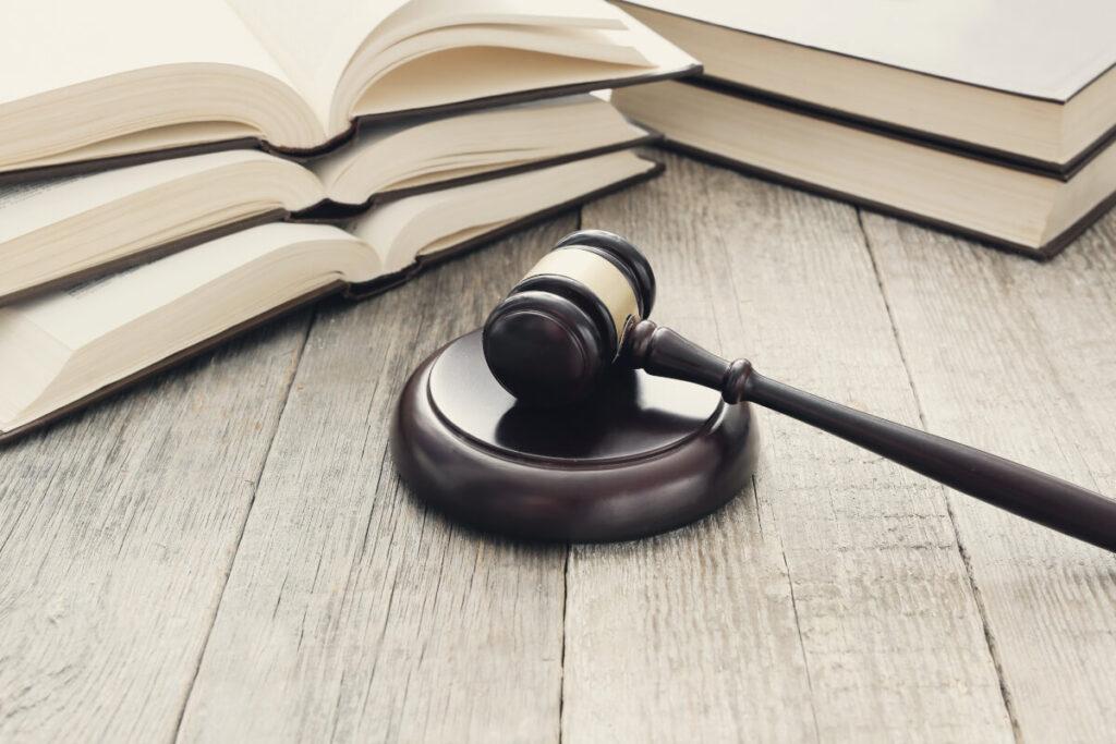 court hammer books judgment law concept